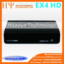 Genuine HEROBOX EX4 HDBCM7362 dual processor Satellite receiver support DVB-S2+DVB-C+ DVB T2 Dual-core 512MB Satellite Receiver