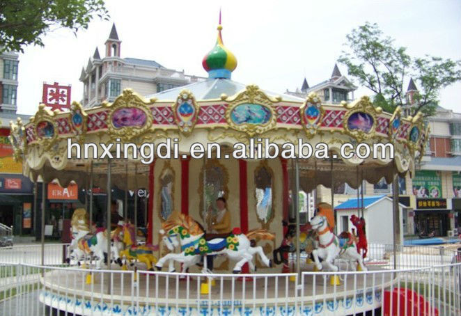 amusement park rides carousel rocking horse merry to round equipment