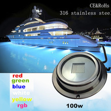 DC12V/24V LED swimming pool lighting 100W IP68 RGB remote control underwater light
