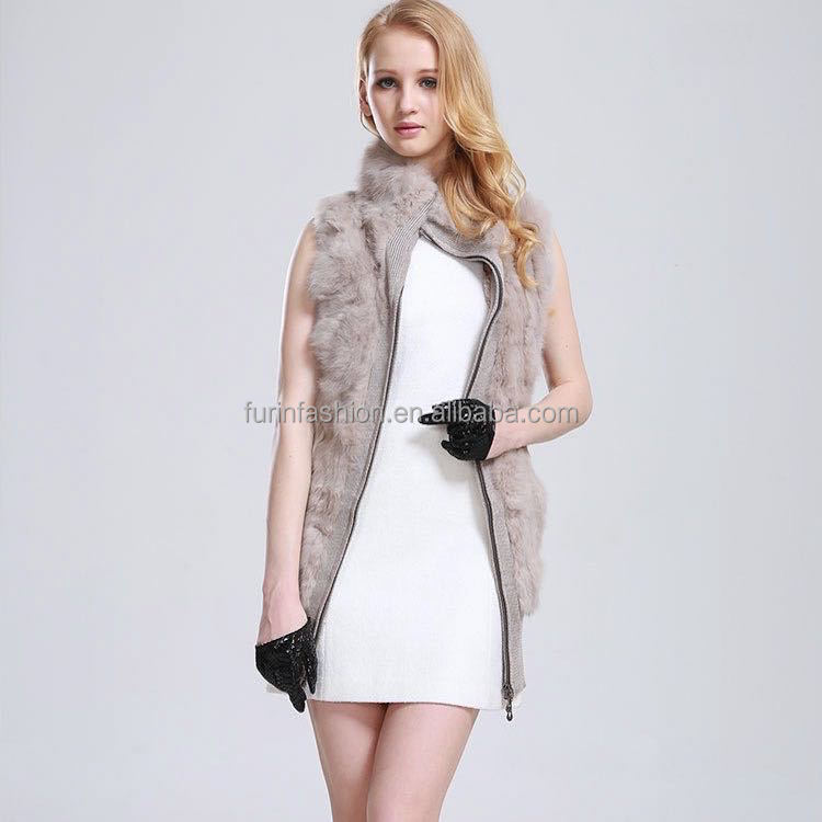 Wholesale Fashion Girl's Knitted 100% Wool Wrap with Rabbit Fur Wool Wrap/Cape/Shawl/Scarf/Stole/Poncho
