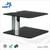 tempered glass shelf tv wall mount magnifying glass
