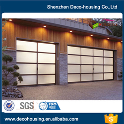 Comfortable new design glass garage door panles prices