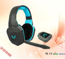 best selling top quality LED logo wireless gaming stereo headset big earcups wearing comfortable wireless gaming headphone