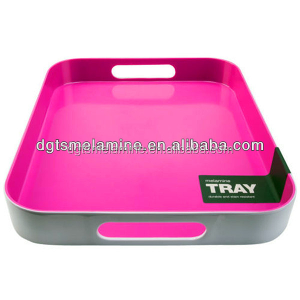 large Specification Wall Upright melamine Serving Tray With Big Holes