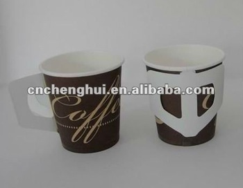 Compare Handle Paper Cup/Paper Coffee Cup/Disposable Paper Cups