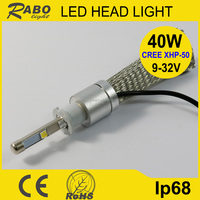 Hot sale h3 halogen bulb 12v 35w led C REE h3 24v 25w bulb white color 4800lm hummer h3 car headlight led
