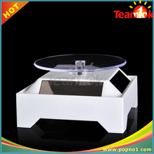 Solar power 360 Degree Solar Powered Rotating Display Stand for jewelry electronic display/mobile phone/watch