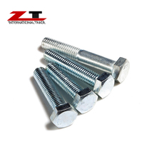4.8 to 8.8 carbon steel hot dip galvanized hex bolts /50mm diameter steel bolt