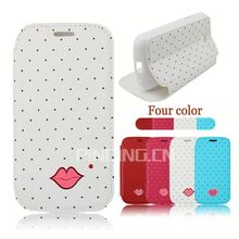Sexy lips phone accessory leather cover for Nextel V45 flip case
