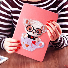 KAKU 8-inch shockproof color printed tablet pu leather case for grils for ipad 2 3 4 mini123