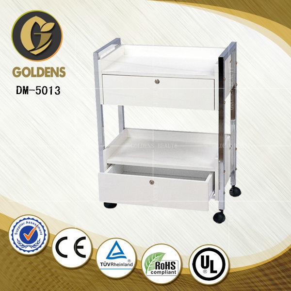 DM-5013 tea cart trolley used beauty salon furniture hospital food trolleys for sale