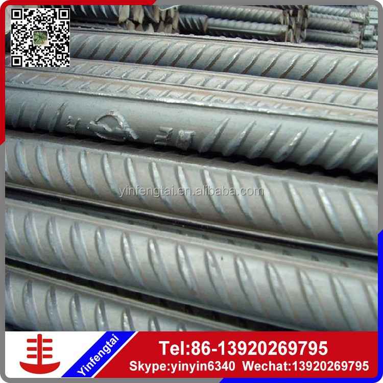 GB HRB400 HRB500 BS4449 ASTM A615 GR40 GR60 steel rebar, deformed steel bar, iron rods for