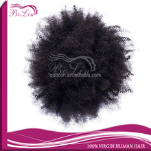 Cheap Afro African Kinky Curly Human Virgin Hair Weaves Curl Human Hair Weft Good Quality Hair Extension for African American
