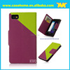 cute color with Crossed pattern leather case for blackberry Z10 with hand-strap