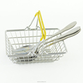 Small Square Metal Wire Cutlery Basket Candydy Storage Chrome F0094