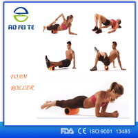 "High-Density Round Foam Roller 13"" x 5"" for Physical Therapy & Exercise"