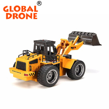 HuiNa Toys 1520 6CH 27HMZ 1/14 RC Metal Bulldozer Charging kids toy excavator car Remote Control Toys huina excavator