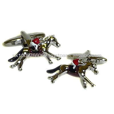 Horse Racing, Jockey Equestrian Novelty Cufflinks