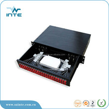1u famework 24 core odf sc apc fiber optic patch panel