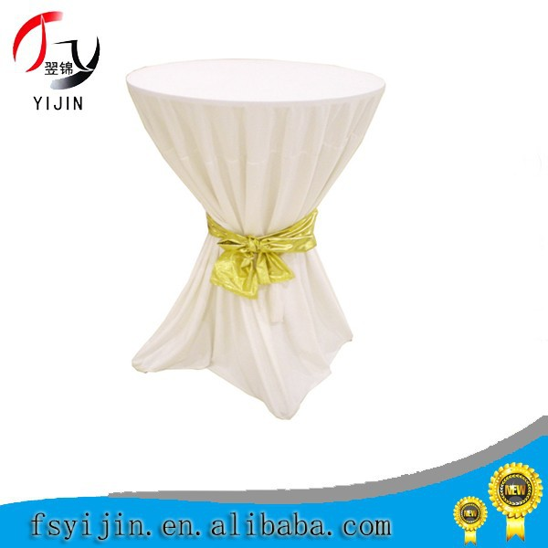 72'' Round Elastic Stretch Table Cover For Wedding