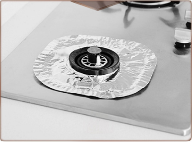 22*22cm Kitchen use round aluminum foil Gas hob liner