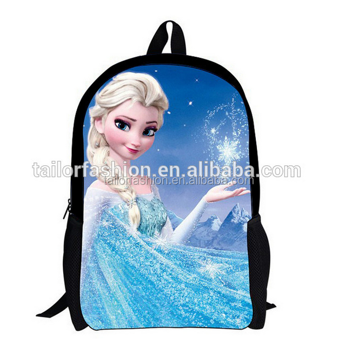 Wholesale new arrival frozen children school bags printing cartoon kids backpack