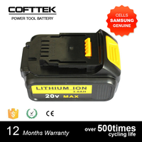 replacement Dewalt 20V 3.0Ah Li-ion power tool battery for Dewalt cordless drill DCB200