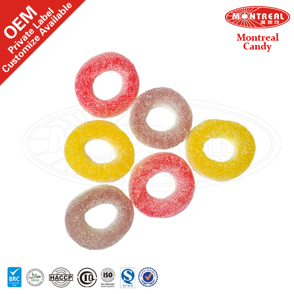 Ring pop sweet sugar coated gummy jelly shaped
