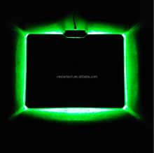 Flash LED mouse pad for office,home,game , gaming mouse pad