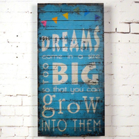 MG401 Dream Big Eco-friendly 3D Decorative Wood Painting