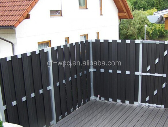 wood plastic closed fence