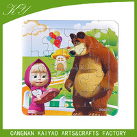 12 pcs lovely animal cardboard puzzle game hot sale puzzle mini baby toys cheap colourful paper