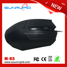 Popular Office Computer Mouse Standard Wired USB Mouse for Woman