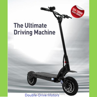 10' 1200W Most Powerful Double Drive Disk Brake Electric Scooter Two Motor Drive Max Speed 50Km/H