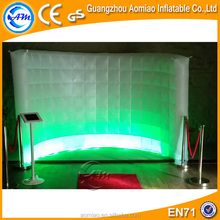 2016 New attractive inflatable photo booth wall/led inflatable wall for event