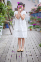 High quality white soft baby christening dress for girls