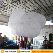 Promoted inflatable white nylon Oxford cloth 3 D cloud light for party