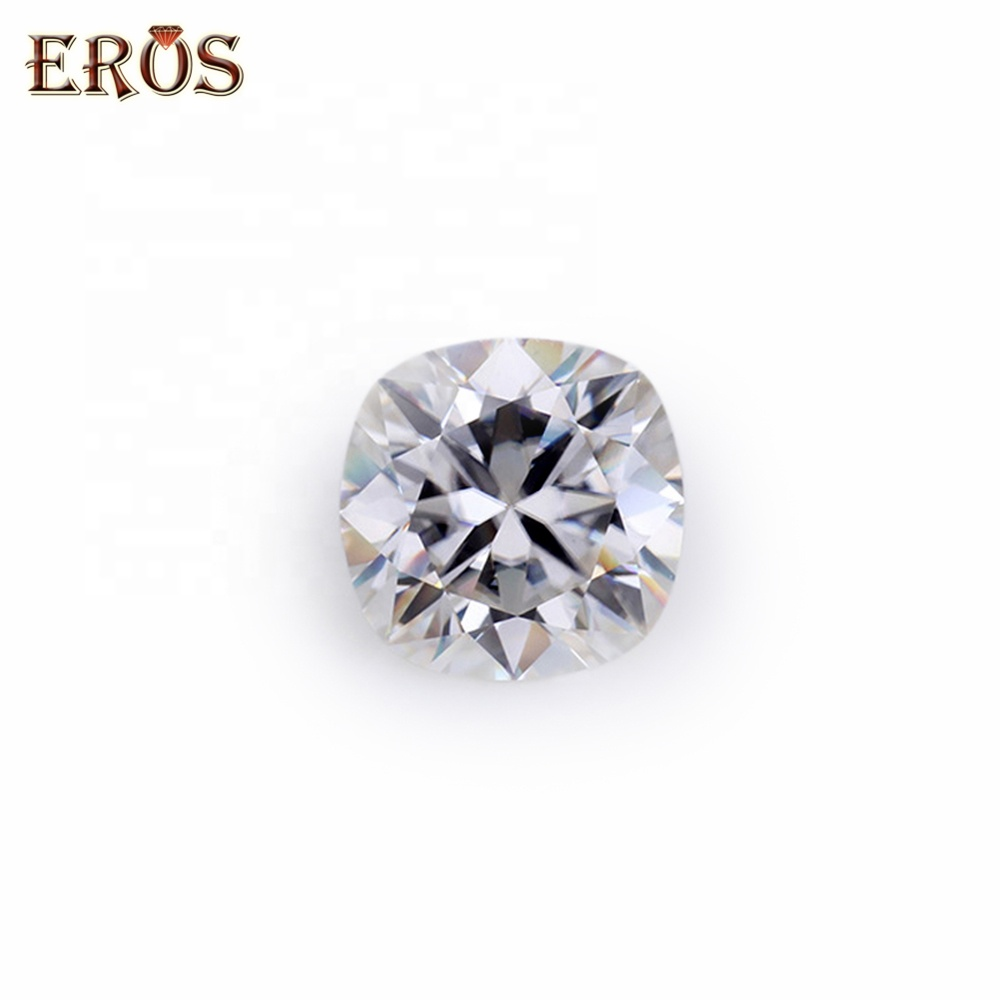 Highest quality best cutting 1 carat cushion D white color moissanite loose <strong>diamond</strong> price