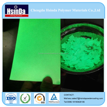 Car paint glow in the dark green powder coatings