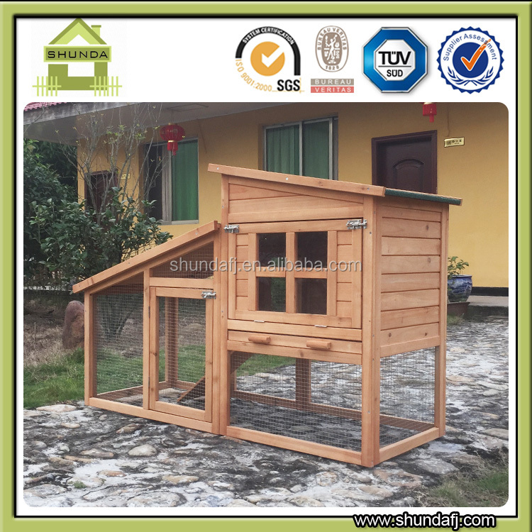 SDR029 wooden custom rabbit hutch designs