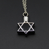 300 Styles stianless steel hexagram urn memorial pendant for ash cremation star jewelry necklace P050