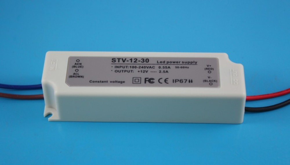 Shine 50-60hz DC 12V 2.5a led driver power supply waterproof ip67