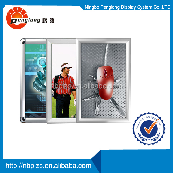 silver photo frame aluminum snap frame 25mm profile round corner