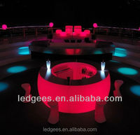 Led Cool luminous bar counter furniture plastic table top