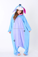 New Year 2016 Men Women Winter Spring Fleece Kawaii Cute Adult Oneise Animal Couples Onesie Pajamas Costume Donkey Eeyore Onesie