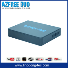 satellite receivers directv satfinder tv box Azfree DUO with free iptv iks sks for Chile