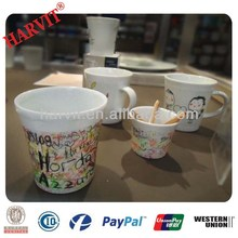 Dollar Store Mugs/Blank Coffee Mugs Wholesale/Nestle Milo Cute Children Kids Personalized Hand Draw Ceramic Chalk Blackboard Mug