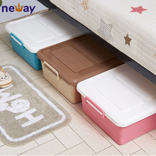 High Quality Use Under The Bed Plastic Storage Boxes With Wheels