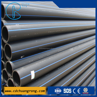 HDPE Blue Plastic Water Pipe