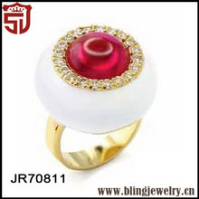 Hot New Product Gold Ruby Finger Enamel Rings Party